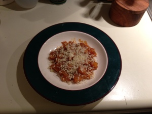 Braised Butternut Squash with Breadcrumbs and Parmesan