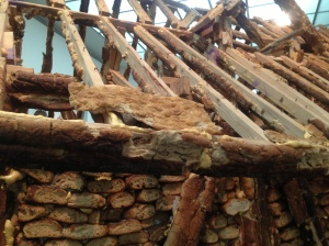 Close Up of Bread House Roof and Wall