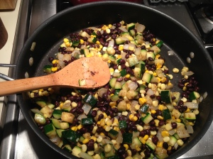 Summer Succotash with Black Beans