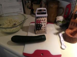 Step 4: Grate zucchini.