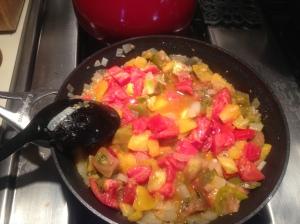 Step 5: Begin tomato sauce.