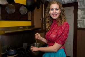 Maggie Lawson, The Heirloom Chef, from her Ancestral Self-Portrait series, in which she portrays herself as a 1950s housewife