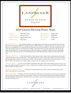 About that Landmark Pinot...