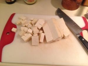 Prep Step: Dice tofu