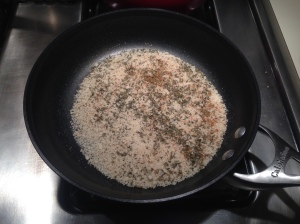 Step 3: Toast breadcrumbs.