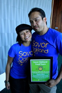 Geneva Europa (l) and Carlo Medina (r) of Savor Oakland Food Tours