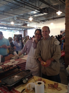 Peter Jackson (R) of Boucherie Cured Meats at the Eat Real Festival last fall