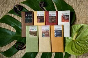 7 Chocolate Bars with flowers-JADE