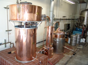 The Classicks' copper Alambic still at their distillery in Mountain View