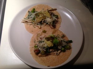 Chicken Tacos - First Way: Chicken, Asparagus and Mushroom
