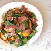 Sprig Lunch - Peach and Prosciutto Salad