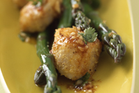 Scallops and Asparagus from Jesse's Simply Organic Cookbook